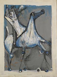 'Cavallo e cavaliere (Horse and rider)' by Marino Marini, 1950