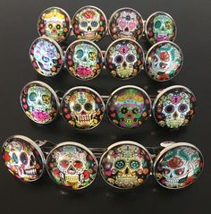 Sugar Skull French Clip French Clip Day Of The Dead