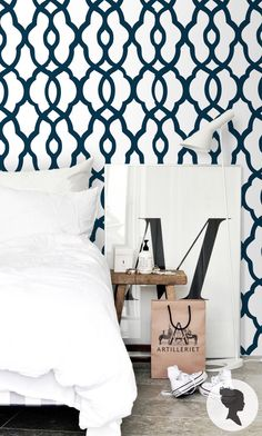 Moroccan Pattern Self Adhesive Wallpaper L046 by Livettes on Etsy https://www.etsy.com/listing/202535860/moroccan-pattern-self-adhesive-wallpaper