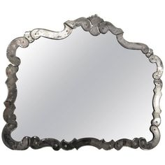 1930's Venetian Style Vanity / Mantel Mirror ($4,250) ❤ liked on Polyvore featuring home, home decor, mirrors, wall mirrors, venetian wall mirror, beveled wall mirror, venetian style mirror, mantel mirrors and beveled mirror