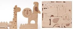 Petit Collage Safari Jumble Wooden Puzzle - UrbanBaby