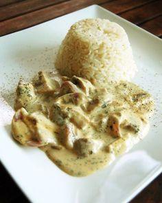Reisgerichte | Champignon-Frischkäsepfanne mit Reis