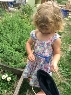 Picking peppermint and kale @ Green Apple Garden Playschool
