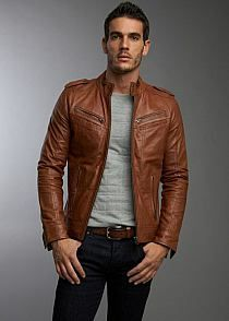 Every Girl's Crazy 'bout a Sharp Dressed Man! / Fitted leather jacket
