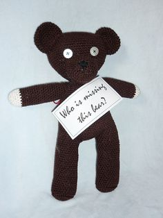 For all those who want to give this poor little bear a new home …
