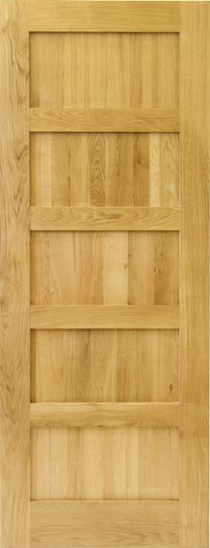 Buy online our Five Panel Shaker Style Solid Oak Door to give your home a new look! Our solid oak five panel doors are made from sustainable materials! Solid Oak Internal Doors, Solid Oak Doors, Interior Doors For Sale, Black Interior Doors, Shaker Style Doors, Shaker Doors, Mazda, Door Displays, Fire Doors