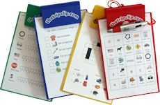 clipboards...what a great way to help them hold things.