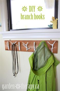 DIY Recycle Upcycle Branch Coat Rack Tutorial