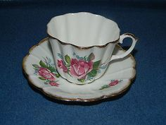 Royal #stuart bone #china #spencer stevenson england pink floral tea cup & saucer,  View more on the LINK: 	http://www.zeppy.io/product/gb/2/391447566969/