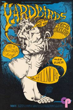Yardbirds at Fillmore Auditorium 5/23-25/68 by Lee Conklin