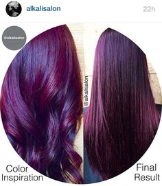 Violet, love it! Bold Hair Color, Cut And Color, Hair Colours, Diy Hairstyles, Pretty Hairstyles, Auburn Red Hair, Classy Nail Designs, Burgundy Nails, Elegant Chic