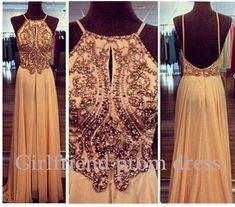 Backless creamy chiffon vintage long prom dress for teens, bridesmaid dress, evening dress, ball gown #promdress #wedding #coniefox
