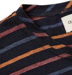 Oliver Spencer - Striped Cotton-Jersey T-Shirt|MR PORTER