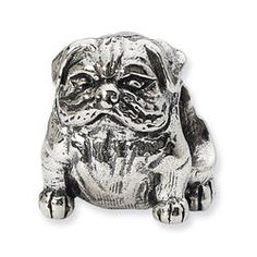 Reflections Bulldog Charm Bead - Pandora Compatible