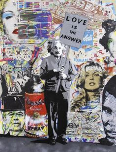 """""""Einstein"""" Mural Pop Art by Mr Brainwash #street #art"""