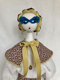 On Sale Emilia - Textile art,Art Decor,Textile Doll,Collectible,Soft Sculpture,Handmade Cloth Doll,Decorative Textile Doll,Displaying Art,Un - $112.50 USD