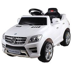 Mercedes Benz ML350 6V Kids Ride On Toy Car Battery Powered Wheels  White -- Click image to review more details.Note:It is affiliate link to Amazon.