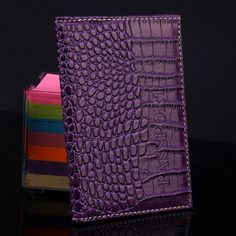 Passport Holder Protector Wallet Business Card Holder Soft Passport Cover Delicate PU Leather Alligator Embossing bag *35