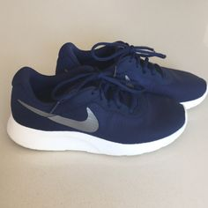 49f87da7aa2ca Shop Women s Nike Blue size 7 Sneakers at a discounted price at Poshmark.  Description  All day everyday comfort Nike shoes.