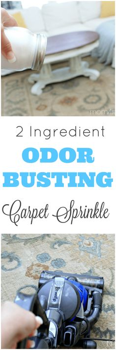 DIY 2 Ingredient Odor Busting Carpet Sprinkle Recipe Got pets? You need this DIY 2 Ingredient Pet Odor Busting Carpet Sprinkle Recipe! Just make it, sprinkle it Homemade Cleaning Products, Cleaning Recipes, Natural Cleaning Products, Cleaning Hacks, Cleaning Schedules, Rug Cleaning, Natural Products, Cleaning Supplies, Diy Cleaners