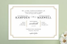 Classy Type Wedding Invitations by Kimberly FitzSimons at minted.com