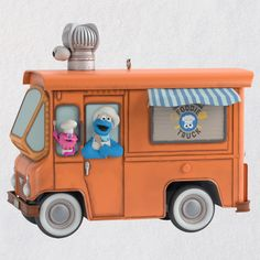 Sesame Street® Cookie Monster's Foodie Truck Ornament With Sound - Keepsake Ornaments - Hallmark $19.99