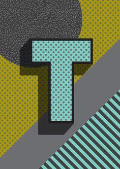 Modern Alphabet Letter T ABC Art Print  Modern Alphabet Letter L ABC graphic Memphis Design Memphis Milan modern retro vintage design kids bedroom poster art type typography text lettering A,B,C,D,E,F,G,H,I,J,K,L,M,N,O,P,Q,R,S,T,U,V,W,X,Y,Z