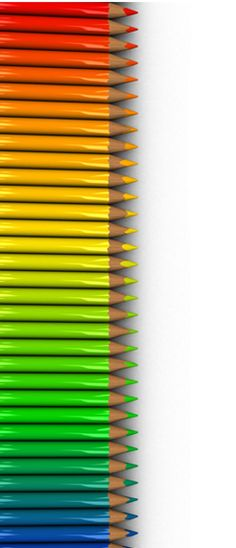 colored pencils arranged in order of the color spectrum starting with red and ending with blue. Taste The Rainbow, Over The Rainbow, World Of Color, Color Of Life, True Colors, All The Colors, Image Crayon, Rainbow Connection, Coloured Pencils