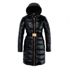 2013 Moncler Women's Coats Black Fashion Nantes Hooded Down