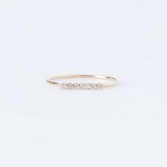 Vale - 7 Diamond Tiny Pavé Bar Ring