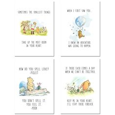 Winnie the Pooh Classic Art Prints - Set of Four 4.1 out of 5 stars by  59 review(s)#32,761 in Home & Kitchen  #191 in Home & Kitchen > Wall Décor > Posters & Prints