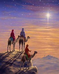 Order a stunning canvas art print of Three Wise Men H. Christmas Scenes, Christmas Nativity, Christmas Pictures, Christmas Art, Christmas Concert, Image Jesus, We Three Kings, Christmas Blessings, Three Wise Men