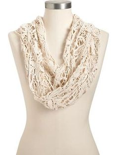 Women's Crochet-Lace Infinity Scarves | Old Navy