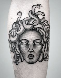 Medusa Greek Mythology Dotwork Tattoo