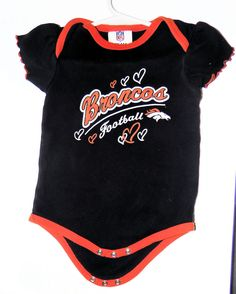 NFL Football Denver Broncos Creeper One Piece Snap bottom Kids Baby Apparel #NFL