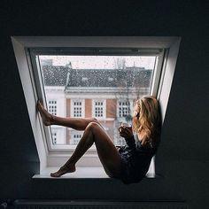 Morning rain is so moody! Rain photography ideas. Rain photography window.