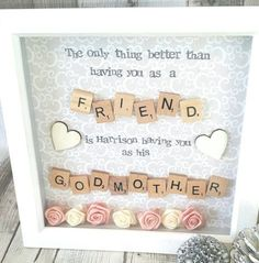 Check out this item in my Etsy shop https://www.etsy.com/uk/listing/500917296/godmother-frame-gift-for-godparents
