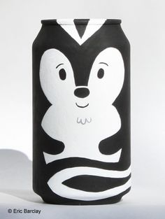 With his striking good looks And mesmerizing scent, Clovis found love Wherever he went Acrylic on a Coke can Eric Barclay Craft Packaging, Beer Packaging, Pretty Packaging, Packaging Design, Crafts For Kids, Arts And Crafts, Diy Crafts, Thinking Day, Recycled Art