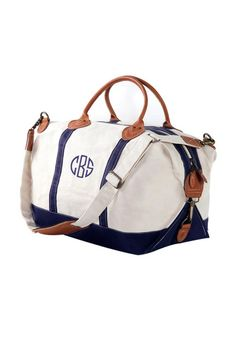 Monogramed Nantucket Weekender
