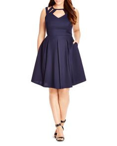 City Chic Cutout Fit and Flare Dress