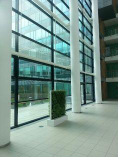 OCG Wien Flora, Green Architecture, New Green, Green Walls, Blinds, Windows, Curtains, Interior, Home Decor