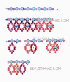 Free pattern for beaded necklace Avalon | Beads Magic