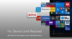 """How to fix """"Device Limit Reached for Installing Apps and Games"""" in Windows 10"""