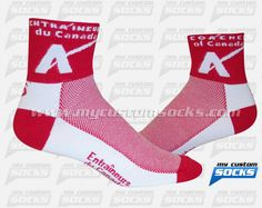 Socks designed by My Custom Socks for Entraineurs du Canadien in Montreal, Canada.. Cycling socks made with Coolmax fabric. #Cycling custom socks - free quote! ////// Calcetas diseñadas por My Custom Socks para Entraineurs du Canadien en Montreal, Canada.. Calcetas para Ciclismo hechas con tela Coolmax. #Cyclismo calcetas personalizadas - cotización gratis! www.mycustomsocks.com