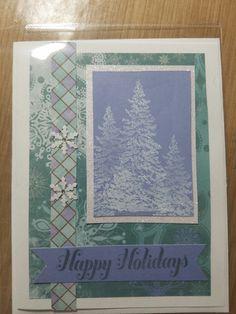 pine tree Christmas card