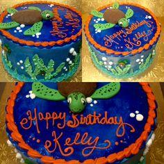 Fondant turtle birthday cake - Mueller's Bakery!