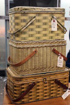 "vintage tin picnic ""baskets"""