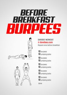 Before Breakfast Burpees Workout
