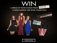 Win a dress of your choice from House of CB & Sleek MakeUP 24K Gold Collection