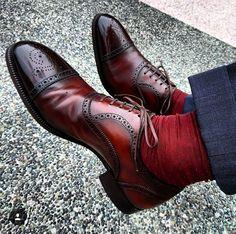 shoes - Handmade New Men's Burgundy Color Shoe, Men Lace Up Cap Toe Leather Formal Shoes Mens Fashion Shoes, Men S Shoes, Men Dress Shoes, Sock Shoes, Shoe Boots, Suede Leather Shoes, Leather Men, High Ankle Boots, Formal Shoes